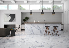 Bianco Venatino 36x36 Polished Porcelain Tile