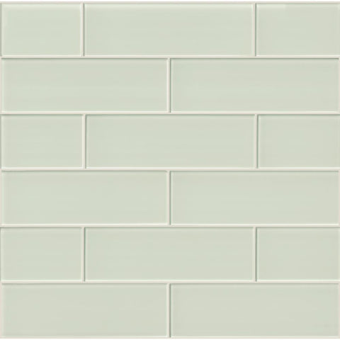 Arctic Ice 4x12 Glass Subway Tile Tilezz