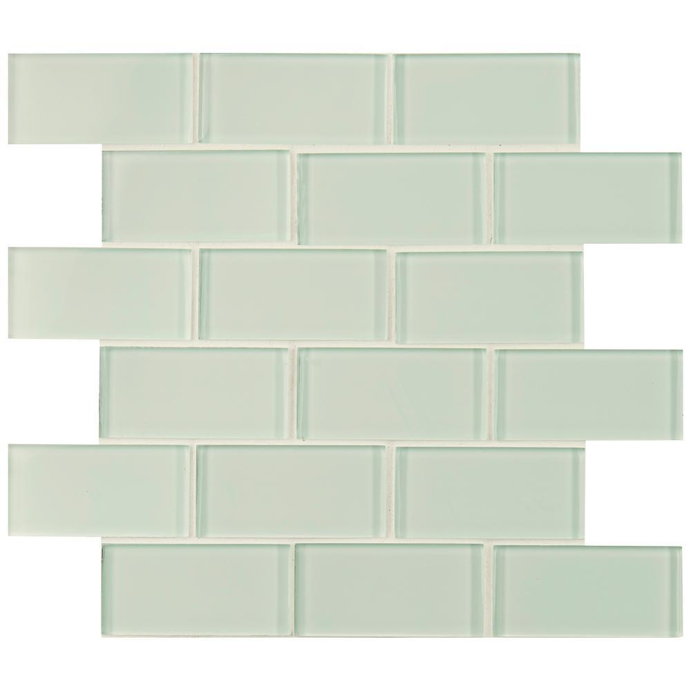 Arctic Ice 2x4 Glass Subway Tile Tilezz