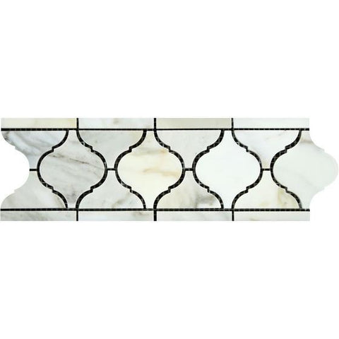 Calacatta Gold Honed or Polished Marble Lantern Border