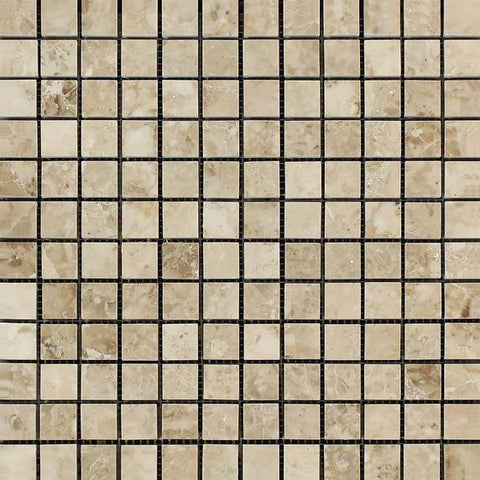 Cappuccino 1x1 Polished Marble Mosaic Stone Tilezz