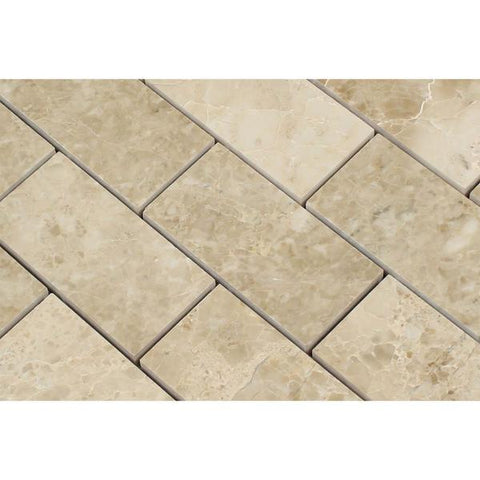 Cappuccino 2x4 Brick Polished Marble Mosaic Tile Stone Tilezz