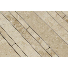 Cappuccino Random Strip Polished Marble Mosaic Tile