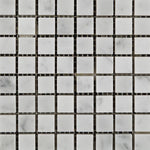 "Load image into Gallery viewer, Carrara White Marble 5/8""x5/8"" Mosaic Polished/Honed Stone Tilezz"