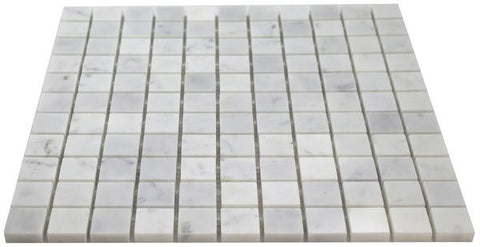 Carrara White Marble 1x1 Mosaic Polished/Honed Stone Tilezz