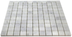 Carrara White Marble 1x1 Mosaic Polished/Honed