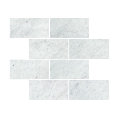 Carrara White Marble 12x24 Field Tile Polished/Honed Stone Tilezz