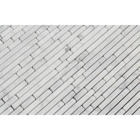 Carrara White Vianden Strips Polished/Honed Stone Tilezz
