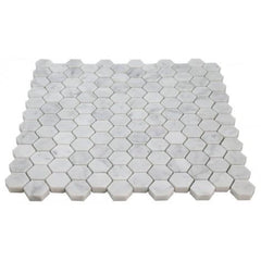 Carrara White Hexagon 2