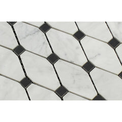Carrara White Octave with Black Marble Polished/Honed
