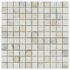 "Italian Calacatta Mosaic, 1""x1"", Polished or Honed  Mosaic Tiles"