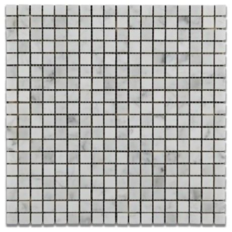 "Carrara White Marble 5/8""x5/8"" Mosaic Polished/Honed Stone Tilezz"
