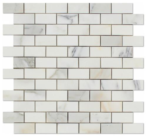 Calacatta Gold 1x2 Marble Mosaic Tile Polished / Honed Stone Tilezz