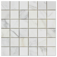 Calacatta Gold 2x2 Marble Mosaic Tile Polished / Honed