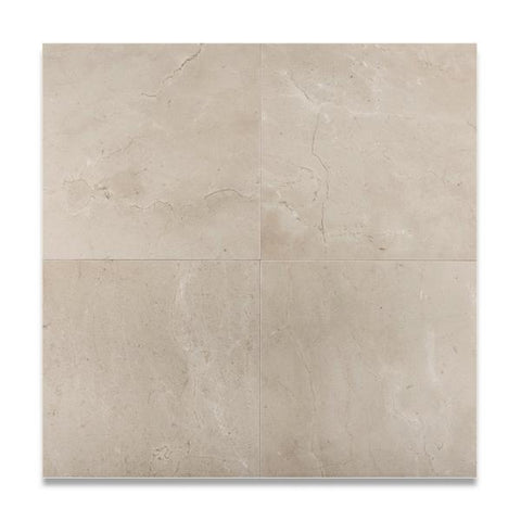 12X12 Crema Marfil Honed or Polished Filed Tile
