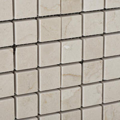 Crema Marfil 1x1 Polished  Mosaic Tile