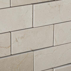 Crema Marfil 2x4 Polished Brick Mosaic Tile