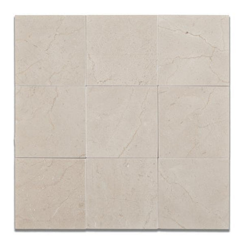 4X4 Crema Marfil Honed or Polished Field Tile