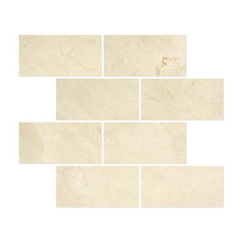 Crema Marfil 6x12 Polished Subway Tile Stone Tilezz