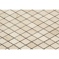 Crema Marfil Polished Diamond Mosaic Tile