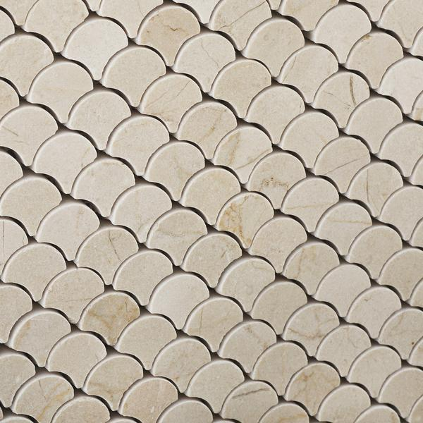 Crema Marfil Scallop Mosaic Tile Polished Tilezz