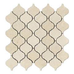 Crema Marfil Lantern Arabesque Mosaic Tile Honed or Polished