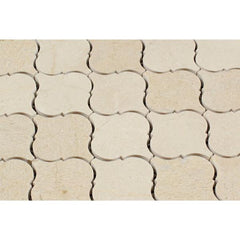 Crema Marfil Lantern Arabesque Mosaic Tile Polished