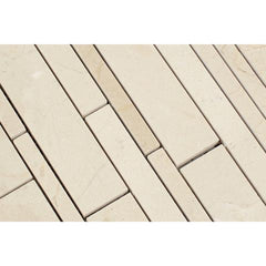 Crema Marfil Random Strip Mosaic Tile Polished