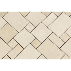 Crema Marfil Mini Versailles Polished Mosaic Tile