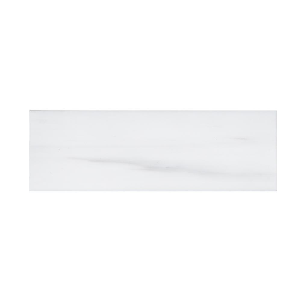 Bianco Dolomite 4x12 Polished Subway Tile Tilezz