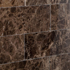 Emperador Dark 3x6 Polished  Subway Tile