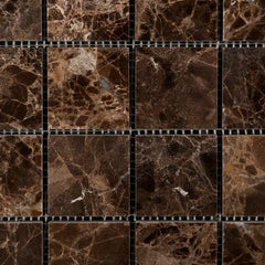 Emperador Dark 2x2 Polished  Mosaic Tile