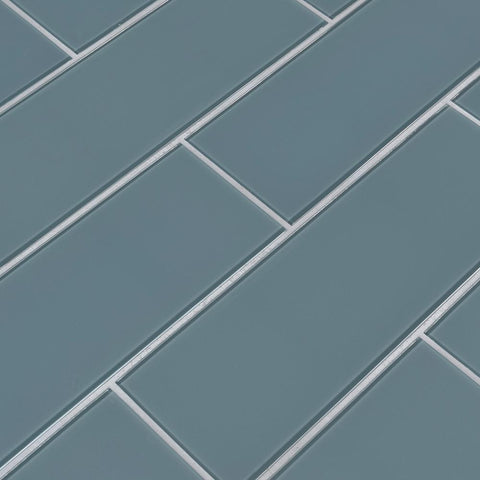Harbor Gray 4x12 Glass Subway Tile Tilezz