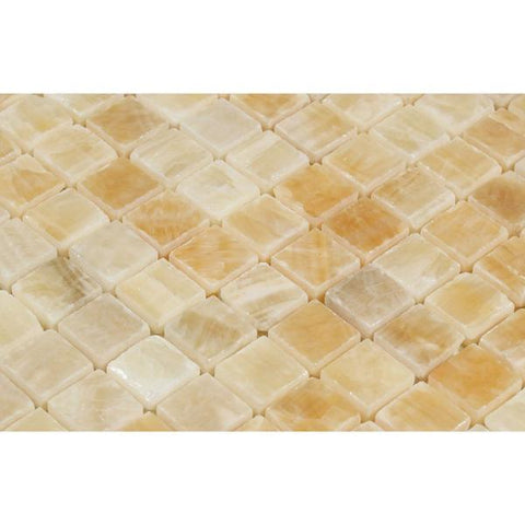 Honey Onyx 1x1 Mosaic Polished Stone Tilezz