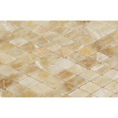 Honey Onyx Diamond Mosaic Polished