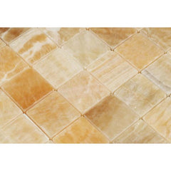 Honey Onyx 2x2 Mosaic Tile Polished
