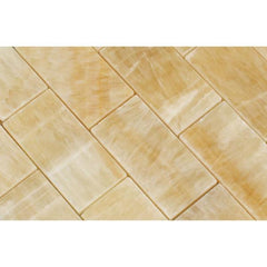 Honey Onyx 2x4 Brick Mosaic Polished