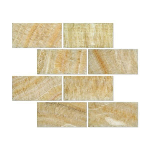 Honey Onyx 3x6 Subway Tile Polished Stone Tilezz