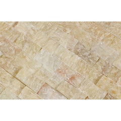 Honey Onyx 1x2 Split Faced Brick Mosaic