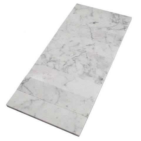 Carrara White 3x9 Subway Tile Polished & Honed Stone Tilezz