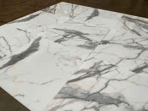 Calacatta Gold 18x18 Polished Marble Field Tile Stone Tilezz