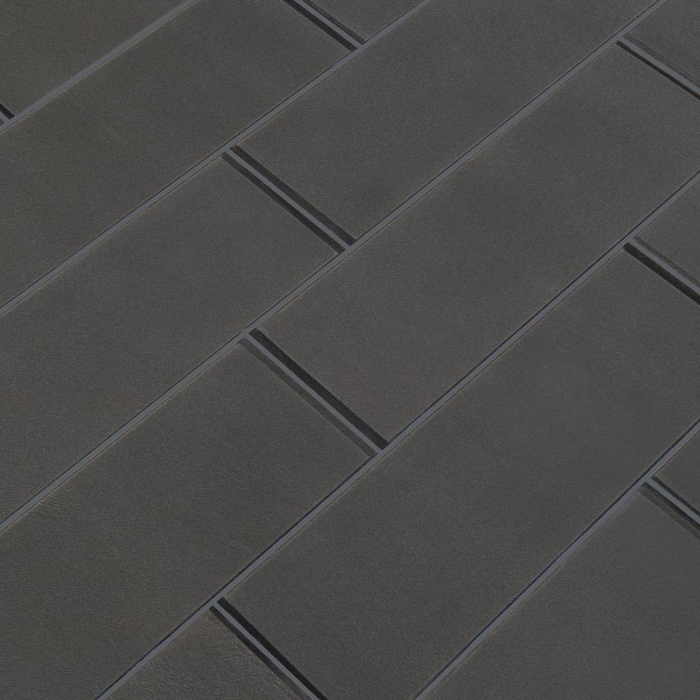 Metallic Gray 4x12 Glass Subway Tile Tilezz