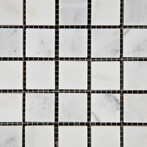 Calacatta Nuevo ( Carrara Bella ) 1x1 Honed Or Polished Square Mosaic