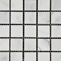 Calacatta Cressa (Asian Statuary) 1x1 Mosaic Polished/Honed