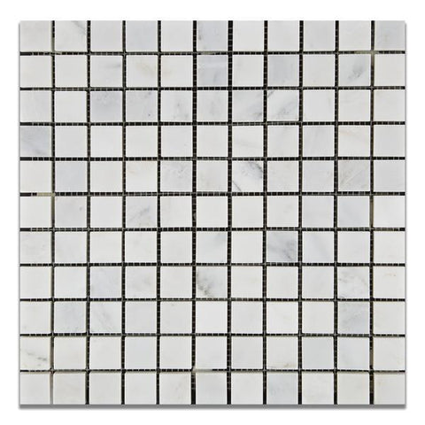 Calacatta Cressa (Asian Statuary) 1x1 Mosaic Polished/Honed Stone Tilezz