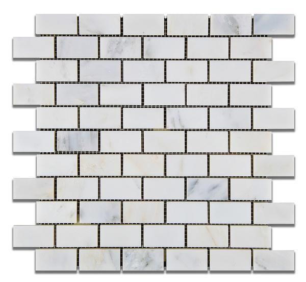 Calacatta Cressa (Asian Statuary) 1x2 Mosaic Polished/Honed Stone Tilezz