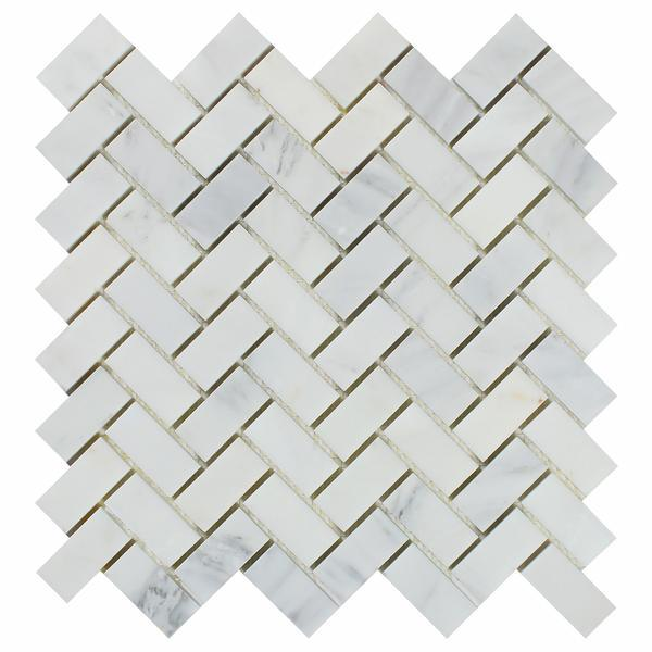 Calacatta Cressa Herringbone (Asian Statuary) 1x2 Polished/Honed Stone Tilezz
