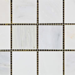 Calacatta Cressa (Asian Statuary) 2x2 Mosaic Polished/Honed