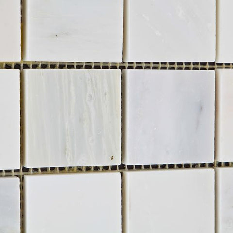Calacatta Cressa (Asian Statuary) 2x2 Mosaic Polished/Honed Stone Tilezz