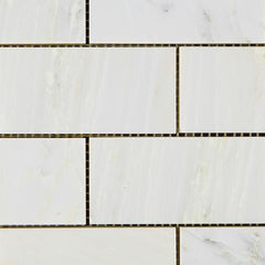 Calacatta Cressa (Asian Statuary) 2x4 Subway Marble